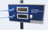 NOVATEMP dual display temp monitor portable battery operated for accurate temp measurement